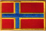 Orkney Islands Embroidered Flag Patch, style 08.